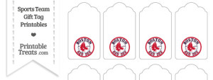 Boston Red Sox Gift Tags