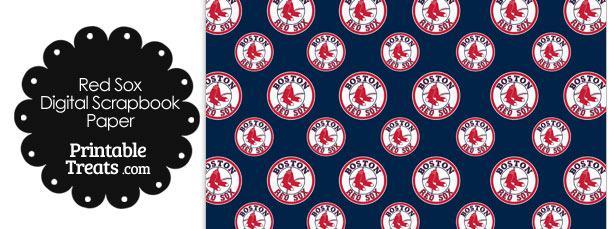Boston Red Sox Logo Digital Paper