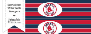 Boston Red Sox Water Bottle Wrappers