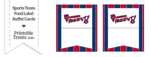 Braves Food Label Buffet Cards