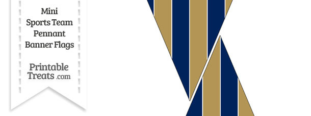 Brewers Colors Mini Pennant Banner Flags