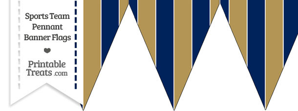 Brewers Colors Pennant Banner Flag