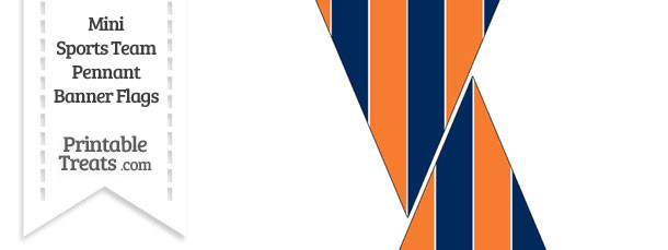 Broncos Colors Mini Pennant Banner Flags