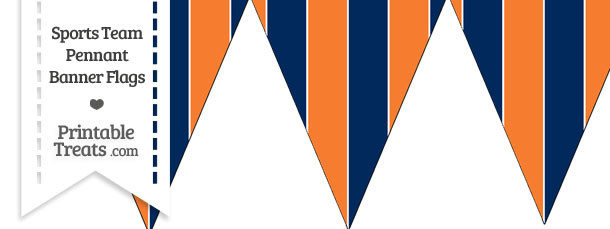 Broncos Colors Pennant Banner Flag