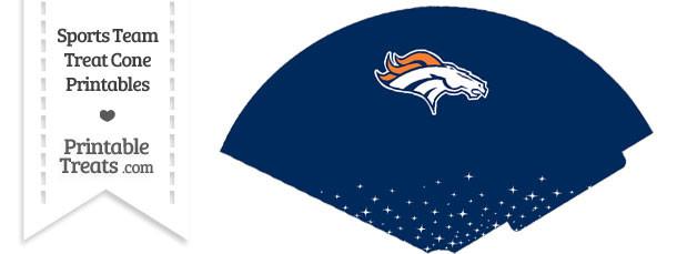 Broncos Treat Cone Printable