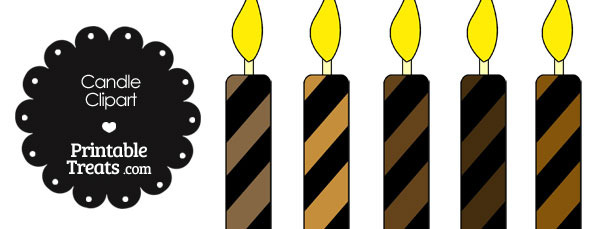 Brown and Black Candle Clipart