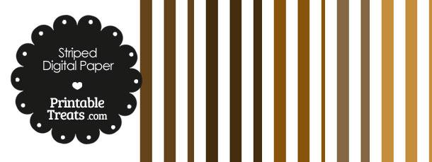 Brown and White Vertical Striped Digital Scrapbook Paper