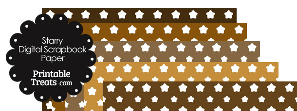 Brown Background Star Digital Scrapbook Paper