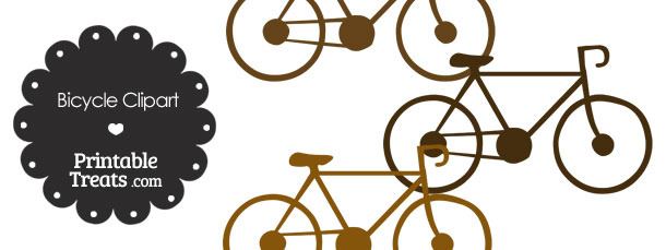 Brown Bicycle Clipart