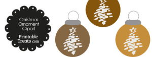 Brown Christmas Tree Christmas Ornament Clipart