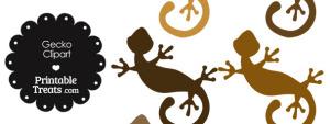 Brown Gecko Clipart