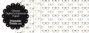 Brown Glasses Digital Scrapbook Paper