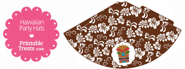 free-brown-hawaiian-party-hat-printable