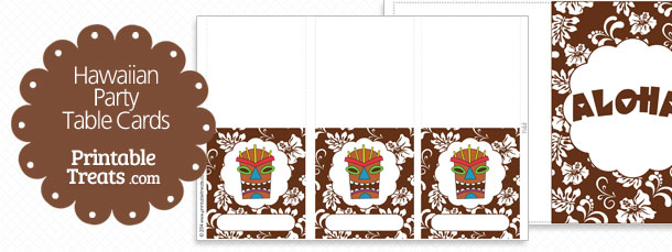 free-brown-hawaiian-party-table-cards