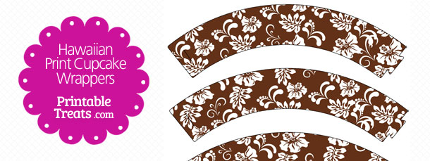 free-brown-hawaiian-print-cupcake-wrappers