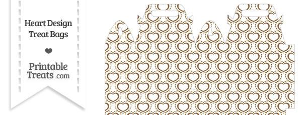 Brown Heart Design Treat Bag