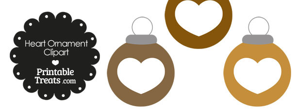 Brown Heart Ornament Clipart