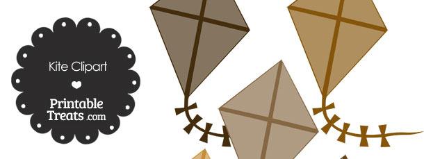 Brown Kite Clipart
