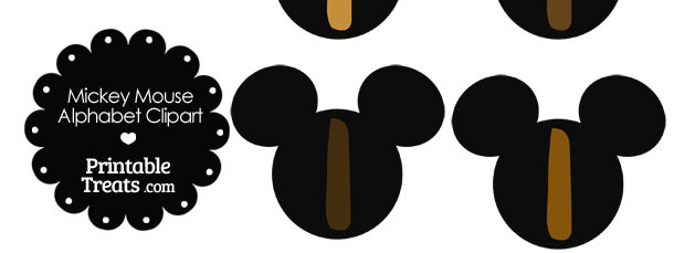 Brown Mickey Mouse Head Letter I Clipart