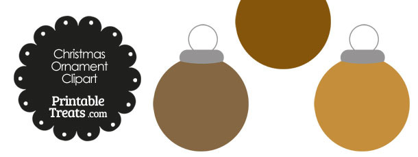 Brown Round Ornament Clipart