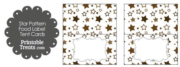 Brown Star Pattern Food Labels