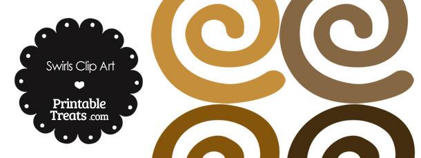 Brown Swirls Clipart