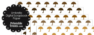 Brown Umbrella Digital Scrapbook Paper