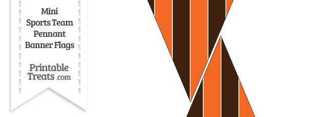 Browns Colors Mini Pennant Banner Flags