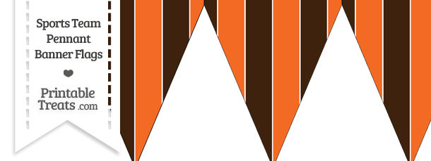 Browns Colors Pennant Banner Flag