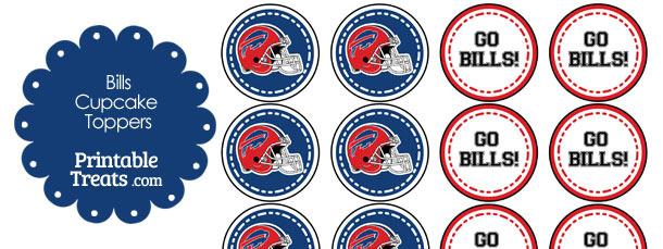Buffalo Bills Cupcake Toppers