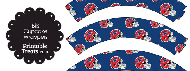Buffalo Bills Football Helmet Cupcake Wrappers