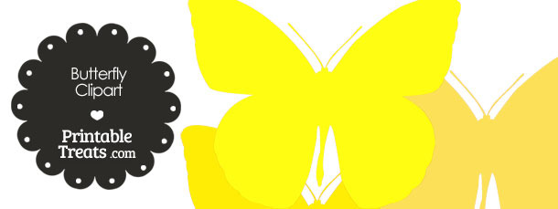 Butterfly Clipart in Shades of Yellow from PrintableTreats.com