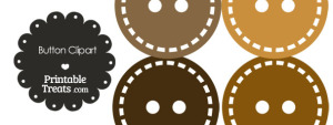 Button Clipart in Shades of Brown