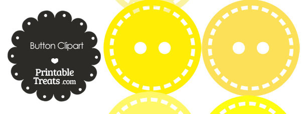 Button Clipart in Shades of Yellow
