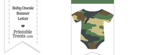 Camouflage Baby Onesie Bunting Banner Blank Spacer Flag