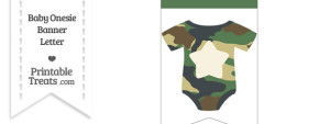 Camouflage Baby Onesie Bunting Banner Star End Flag