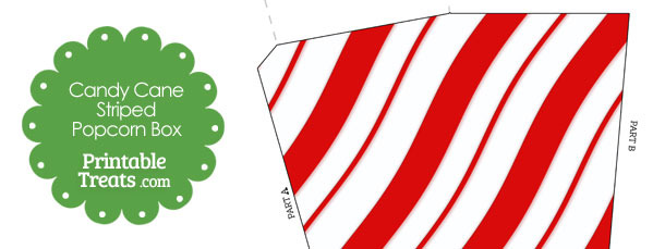 Candy Cane Stripes Popcorn Box
