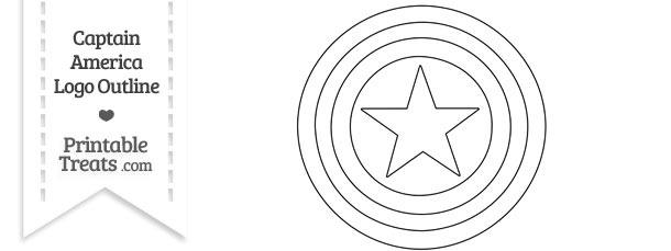 Captain America Logo Outline