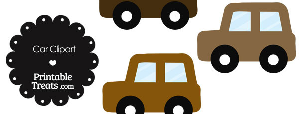 Car Clipart in Shades of Brown