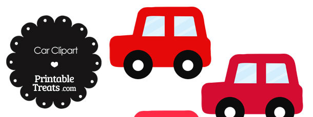 Car Clipart in Shades of Red