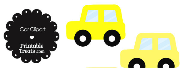 Car Clipart in Shades of Yellow