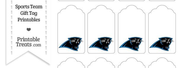 Carolina Panthers Gift Tags