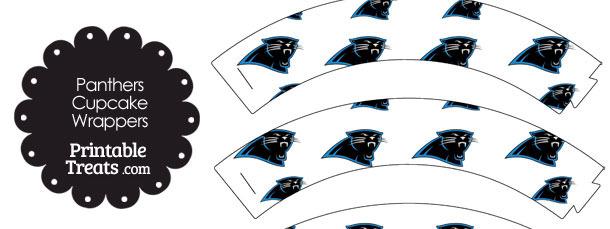 Carolina Panthers Logo Cupcake Wrappers