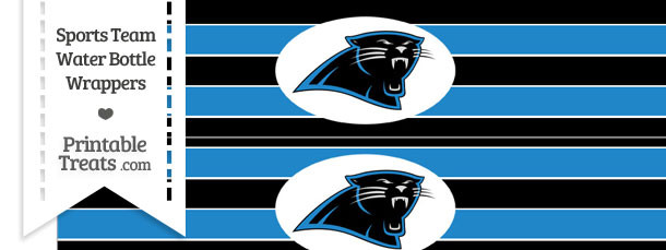 Carolina Panthers Water Bottle Wrappers