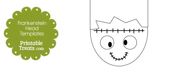 Cartoon Frankenstein Head Template