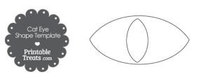 free-cat-eye-shape-template