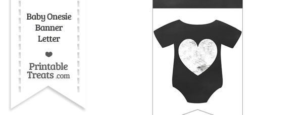 Chalkboard Baby Onesie Shaped Banner Heart End