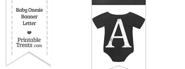 Chalkboard Baby Onesie Shaped Banner Letter A