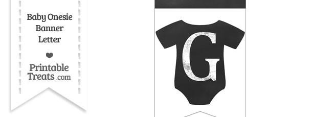 Chalkboard Baby Onesie Shaped Banner Letter G