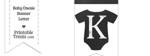 Chalkboard Baby Onesie Shaped Banner Letter K